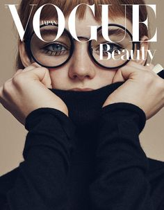 Willow Hand wears funny glasses pose for Vogue Japan Magazine April 2016 cover