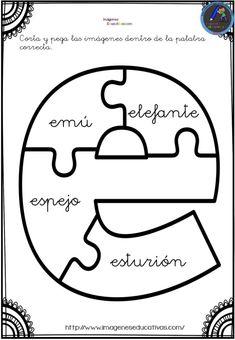 Aprendemos las vocales con este divertido puzzle - Imagenes Educativas Bilingual Education, Puzzles, Symbols, Letters, Kindergarten, Chicago, Study, Alphabet, Vestidos