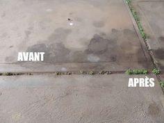nettoyer une tache de gras sur un sol en béton soude