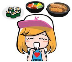 Korea KPOP Fan Girl - Stickers de los Creators