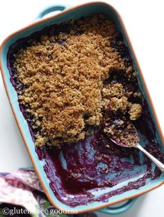Gluten-Free Goddess- New Blueberry Crisp #dairyfree #vegan #blueberry
