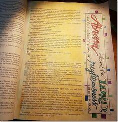Bible Journaling: Week 1 | Paulette's Papers Genesis