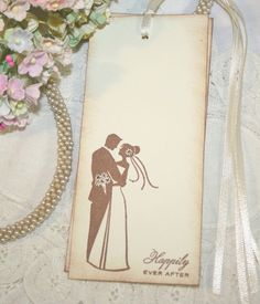 Wish Tree Wedding Tags - Bride and Groom - Happily Ever After - Set of 25