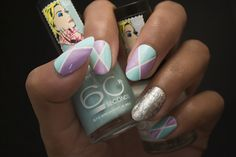 Mint & Purple Triangles