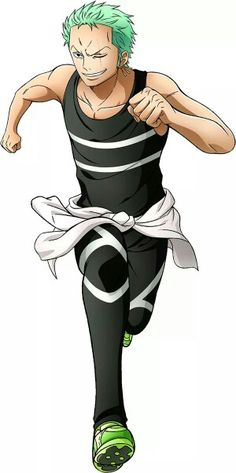 Zoro with sport clothes!! ❤❤ *^*