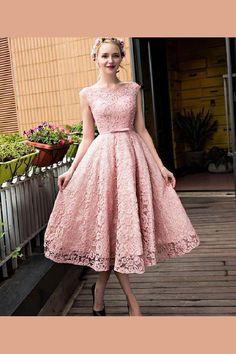 Pink Prom Dress, Homecoming Dress Short, 2018 Prom Dress, Prom Dress Lace #2018 #Prom #Dress #Homecoming #Short #Pink #Lace #PinkPromDress #2018PromDress #PromDressLace #HomecomingDressShort Prom Dresses 2019