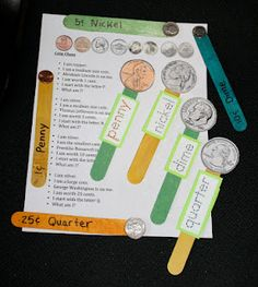 Coin Popsicle Sticks :}