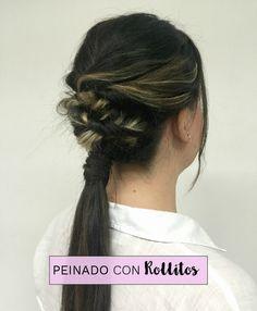 Peinado con Rollitos Súper Fácil