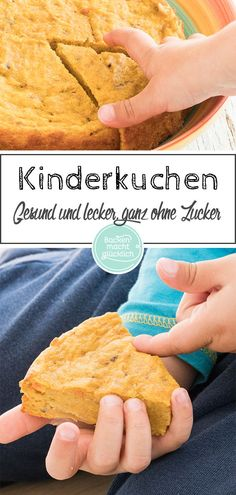 Apple and carrot cake without sugar- Apfel-Möhren-Kuchen ohne Zucker This fruity children& cake without sugar and butter is … - Baby Food Recipes, Gourmet Recipes, Cake Recipes, Healthy Recipes, Kids Meals, Easy Meals, Dessert Sans Gluten, Puff Pastry Recipes, Carrot Cake