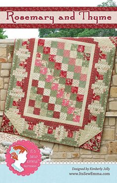 Rosemary and Thyme Quilt Pattern It's Sew Emma #ISE-133 - It's Sew Emma Quilt Patterns | It's Sew Emma