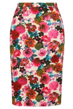 Louche Larue Flower Pencil Skirt