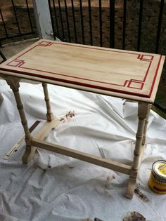 painting old furniture idea. I'd love to do this to the top of Dan's dresser.