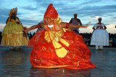 Afro-Brazilian vodoun devotees performing Orixa dance