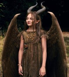 Young malificent. The little girl in the movie was so cute.