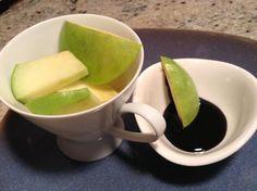 Chocolate coconut reduction with granny smith apples Granny Smith, Apple Slices, Apples, Olive Oil, Coconut, Snacks, Sunshine Coast, Chocolate, Tableware