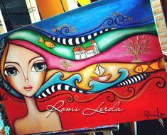Indian Art Paintings, Happy Paintings, Art Sketches, Art Drawings, Art Painting Gallery, Arte Pop, Art Journal Inspiration, Whimsical Art, Art Plastique