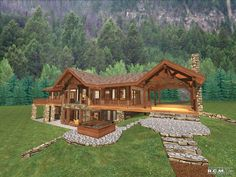 2120 sq ft - Nicola LakeRCM CAD DESIGN DRAFTING LTD is an architectural design firm primarily specializing in log and timber construction projects.