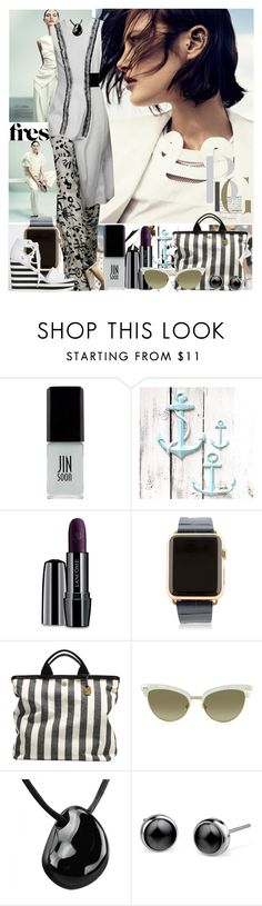 """""""Untitled 1446"""" by ceca-66 ❤ liked on Polyvore featuring Kane, Proenza Schouler, Gianfranco Ferré, JINsoon, Lancôme, Hadoro, Skagen and Gucci"""