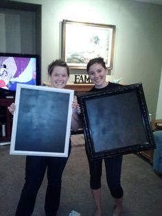 How To: Make a Chalkboard Picture Frame.   @Elena Kovyrzina Aida. @Katie Hrubec C. Can we make these for the wedding!!!!