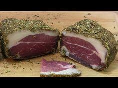 Vyrobte si domácu slaninku bez údenia (pancetta) » Prakticky.sk Ribs, Steak, Pork, Dinner, Whitney Houston, Youtube, Sausages, Traditional, Diet