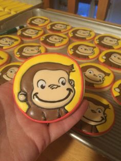 Curious George decorated cookies