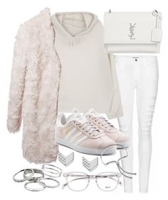 """""""Untitled #20737"""" by florencia95 ❤ liked on Polyvore featuring Frame, Yves Saint Laurent, STELLA McCARTNEY, adidas Originals, FOSSIL, Kendra Scott and Monica Vinader"""
