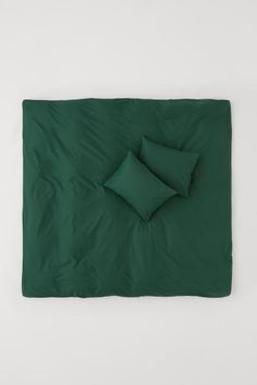 Sengesæt i bomuld - Mørkegrøn - Home All Green Duvet Covers, Best Duvet Covers, Double Duvet Covers, Duvet Cover Sets, Transitional Living Rooms, Transitional Decor, Transitional Kitchen, Linen Duvet, Cotton Duvet