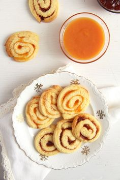 Orange and Jam Swirl Cookies