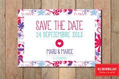 Invitaciones casamiento. SAVE THE DATE.