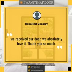 We believe that if we treat our customers well, they will reward us with their future business and referrals! ☎️️ 877-205-9418 🌐 www.iwantthatdoor.com