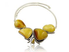 Silver art - handmade necklace with amber Silver Necklaces, Handmade Necklaces, Bangles, Bracelets, Amber, Stone, Jewelry Ideas, Bangle Bracelets, Bangle Bracelets