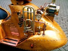 Totally Rad Steampunk Scooter Also Plays Music « Randommization