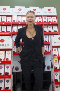 Maria's Twitter: Happy to meet so many of my fans today in Boston! Thank you to @Roche_Bros & @Star_Mrkt ox #Sugarpova
