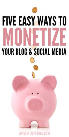 5 easy ways to monetize your blog and social media. Make money while you sleep! Smart passive income is the way to go,… http://itz-my.com
