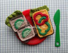 Cupcake By Me ©: Hæklede rugbrødsmadder