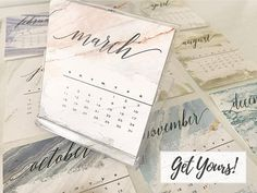 Take on 2018 with these gorgeous desktop calendars - available for purchase on Etsy now!