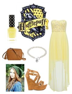 """Hufflepuff-Yule ball"" by kellie-500 ❤ liked on Polyvore featuring Forever New, G by Guess, Dayna U and GiGi New York"