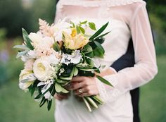 Garden rose, tulip, astilbe and dusty miller bouquet by Pat's Floral Designs, image by Eric Kelley