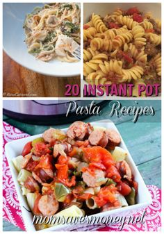 Pasta is so easy to cook in your Instant Pot! Here are 20 delicious pasta recipes for your pressure cooker!