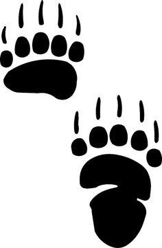 paw print stencil · bear paw decal · grizzly