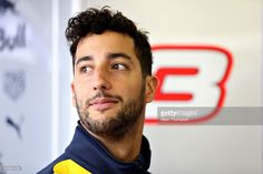 Daniel Ricciardo of Australia and Red Bull Racing in the garage during final practice for the Formula One Grand Prix of Great Britain at Silverstone on July 9, 2016 in Northampton, England.