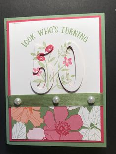 Card I made for a friend's birthday. Stampin Up set is Number of years. Tried the eclipse style.