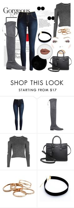 """Untitled #665"" by justinbieber-zaikara ❤ liked on Polyvore featuring Stuart Weitzman, Topshop, Yves Saint Laurent and Kendra Scott"
