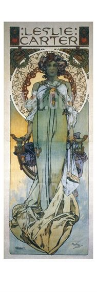 Mucha: Theatrical Poster Giclee Print by Alphonse Mucha at Art.com