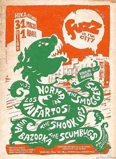 Fuzz in the City 2017 Hika Ateneo, Kremlin aretoa, Txondorra Berria Bilbao 31 de marzo y 1 de abril de 2017 Grupos: Norman, The Smoggers, Los Infartos, The Pulsebeats, Greasy & Grizzly, Viva Bazooka, The Shook-Ups, The Scumbugs  Galerías: http://denaflows.com/festival-fuzz-in-the-city-2017/