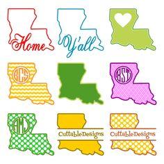 free svg louisiana mardi gras | Louisiana Home State Svg Cuttable Designs