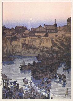 Return of Fishing Fleet  by Hiroshi Yoshida, 1928