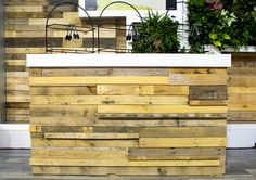 Reclaimed wood bar b