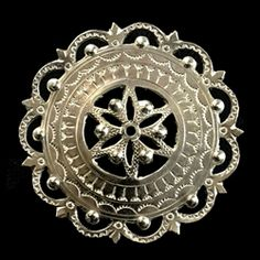 This Highlander pin is normally worn in the center of the man's shirt. Hand worked from metal with intricate detailing by one master artisan in Bukowina near Zakopane. The workmanship is exquisite and the detail so rich these decorations have become co Artisan, Polish, Brooch, Traditional, Detail, Wood, Accessories, Jewelry, Vitreous Enamel