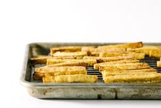 i am a food blog - Tofu Fries With Sesame Honey Garlic   Try out this recipe for tofu fries with sesame honey garlic. #refinery29 http://www.refinery29.com/i-am-a-food-blog/5